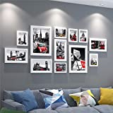 WUXK European style solid wood photo wall decoration is minimalist modern photo frame wall photo wall combination of creative living room wall picture frame 3