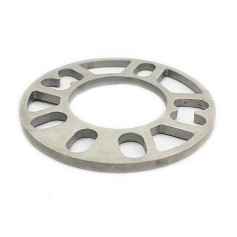 TR.OD 2PCS Silver Wheel Spacer 3MM Thick Stud Spacer For 4 5-Studs 4X100 4X114 5X100 5X114 112
