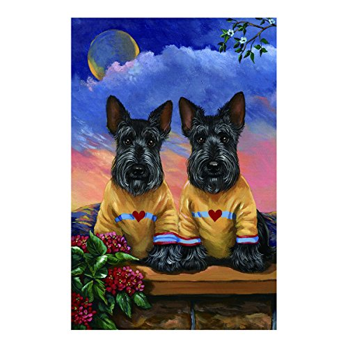 Pet Pattern Flag Cute Schnauzer Dogs Outdoors Flags Of Double Sided Waterproof And Fade Resistant Printed banners 12.5 X 18 Inch 100% (Sox Mlb Pattern)