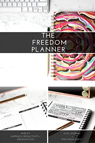 Freedom Planner Pro - Best Daily Calendar Planner for Happiness, Productivity & Financial Abundance - Undated Gratitude & Goals Journal Guaranteed to Get You Organized Fast - Academic & Professional
