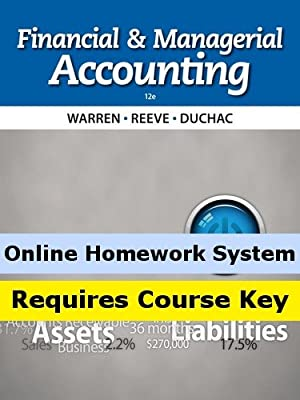 Aplia for Warren/Reeve/Duchac's Financial & Managerial Accounting, 12th Edition