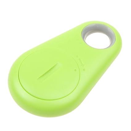 MagiDeal Localizador de Bluetooth Inteligente para Mascotas Niño GPS Localizador de Etiquetas Alarma Key Tracker - Verde