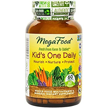 MegaFood - Kid's One Daily, Multivitamin Support for Healthy Growth and Development , 30 Mini Tablets