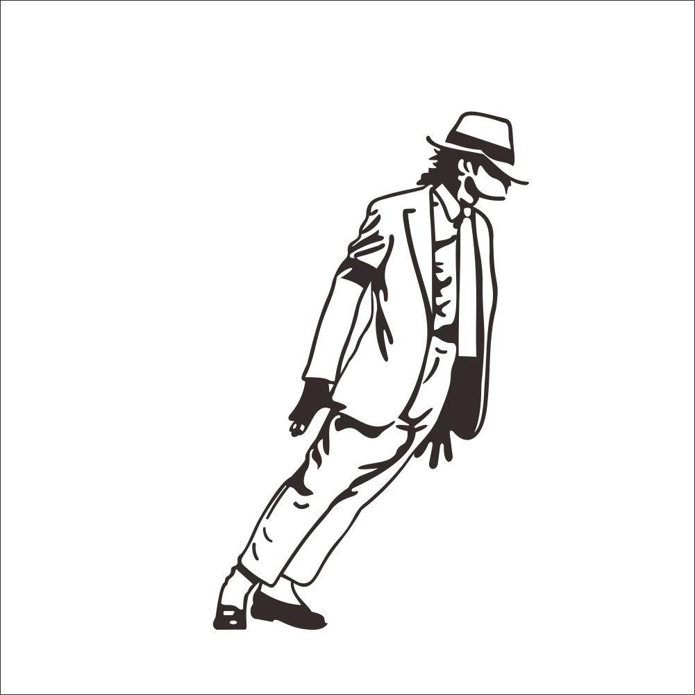 Fangeplustm Diy Removable Superstar Michael Jackson Moonwalk Dance In Smooth Criminal Mj You Are Not Alone Art Mural Vinyl Waterproof Wall Stickers