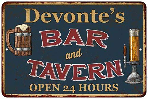 Chico Creek Signs Devonte's Green Bar & Tavern Personalized Rustic Sign Decor 8x12 108120047803