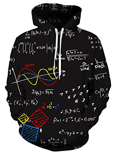UNIFACO Math Geek Formulas Hoodies All Over Adult Hooded Sweatshirts 3D Graphic Jumpers Sportswear from UNIFACO