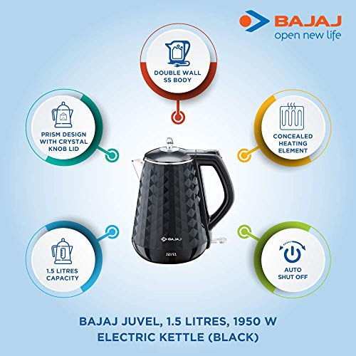 Bajaj Electricals Juvel 1.5-Litre Double Walled Electric Kettle