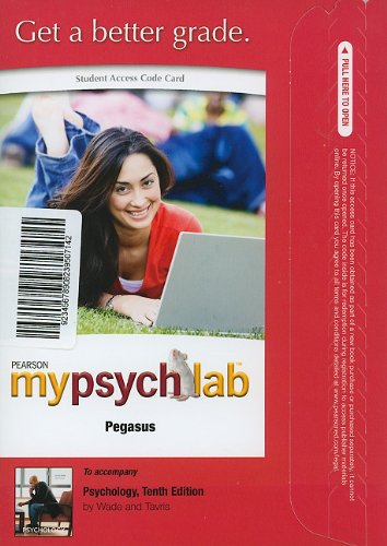 Book MyPsychLab Pegasus -- Standalone Access Card -- for Psychology