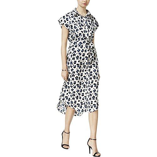 BAR Dress III Sheath Casual Collared B B 80 M Sleeve Cap Womens 1226 White rrn6wv8qx