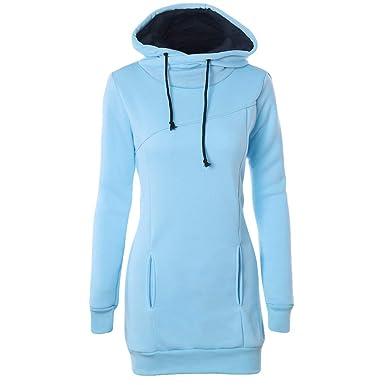 Robe Pull Femme Chic Sweat-Shirt Femme Sweat à Capuche Fille Ados  Sweatshirt Longue Hiver Chaud Tonsi  Amazon.fr  Vêtements et accessoires 0a47dec8fee