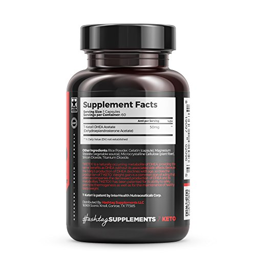Hashtag Supplements 7 Keto - Weight Management, Assist in the Maintenance of a Healthy Body Weight & Maximize results of a proper diet and exercise - 30 Day Supply (90 Capsules)