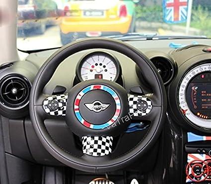 1set UK Flag Pattern Vinyl Sticker Decal For Mini Cooper Steering Wheel Cover