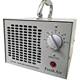 Fresh Air Commercial Air Purifier Ozone Generator 3500mg Cleaner Deodorizer (Silver)