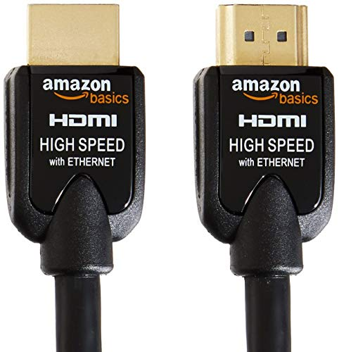 AmazonBasics High-Speed HDMI Cable 2-Pack - 6.5 Feet (2 Meters) Supports Ethernet, 3D, 4K and Audio Return