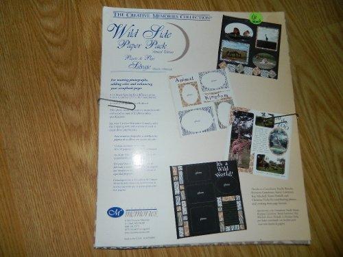 Creative Memories Wild Side Paper Pack - Zebra, Giraffe, Tiger, Leopard Print - 12 sheets of 10 x 12