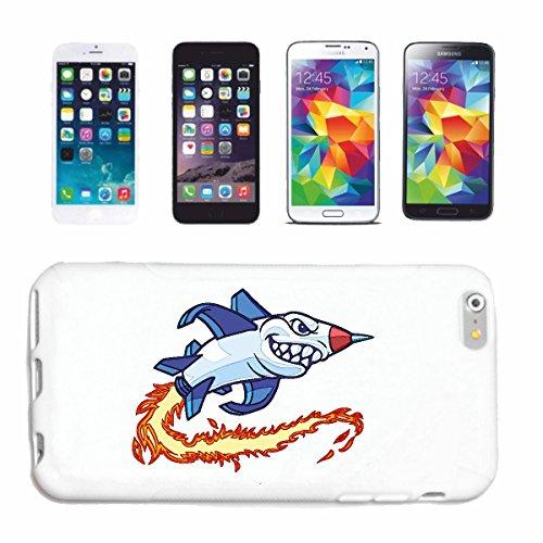 """cas de téléphone iPhone 6+ Plus """"WHITE HAI AS ROCKET JET DRIVE MEGALODON BLEU SHARK Hammerhai récif blacktip whalesharks requin mako"""" Hard Case Cover Téléphone Covers Smart Cover pour Apple iPhone en"""