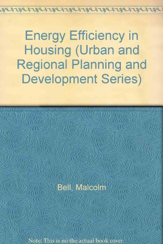 Energy Efficiency in Housing (Urban and Regional Planning and Development)