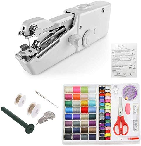 Mini máquina de coser de mano portátil, máquina de coser eléctrica ...
