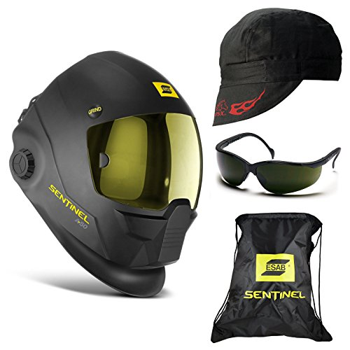 ESAB Sentinel A50 Automatic Welding Helmet, 5.0 Glasses, Revco Cap (BC5W-BK)