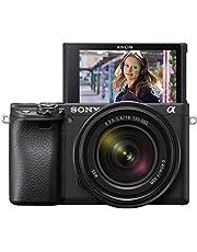 Sony Alpha 6400 E-Mount Systemkamera (24 Megapixel, 4K Video, 180° Klapp-Display, 0.02 Sek. Echtzeit-Autofokus mit 425 Kontrast AF-Punkten, XGA OLED Sucher, inklusive M-Kit 18-135 mm Objektiv) schwarz