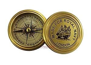 "Dorpmarket ""hechas a mano para Royal Navy Londres"" latón reloj de sol brújula Coleccionable"