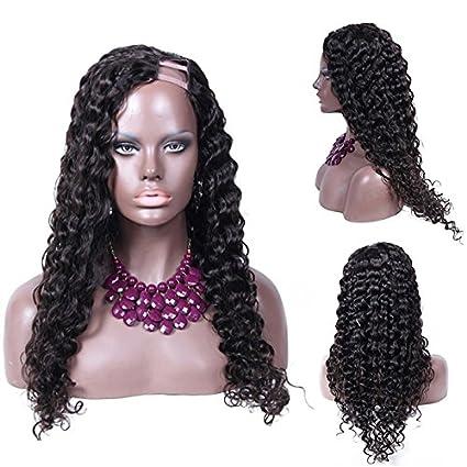 JS Wigs pelucas sueltas onduladas indias remy pelo U parte pelucas baratas