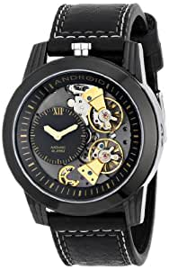 ANDROID Men's AD665AKK Dynamic Double Escapement Analog Automatic-Self-Wind Black Watch