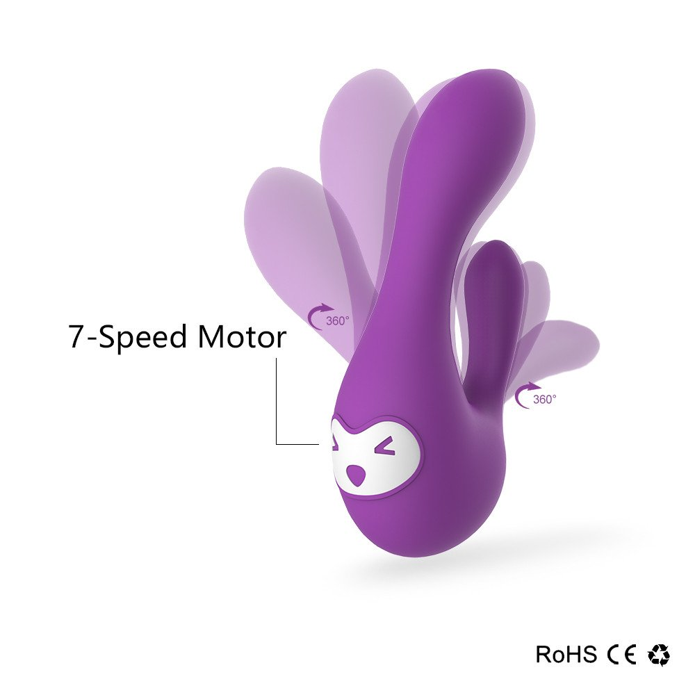 APRIL 14TH Rechargeable Vibrator - 7 Stimulation Modes - Waterproof & Medical Grade Silicone - Lifetime Guarantee - Quiet yet Powerful - Best for Men, Women or Couples - Discreet Packaging - purple
