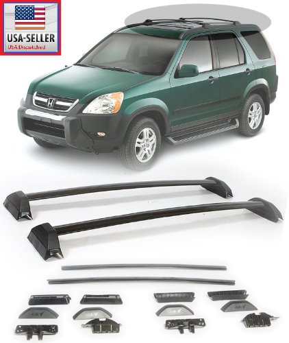 Attractive 2002 2006 Honda CRV Black Roof Rack Cross Bars Sport Utility Luggage  Carrier 2002 2003