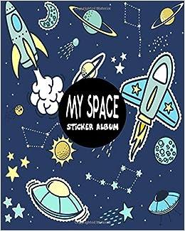 My Space Sticker Album Blank Sticker Book Sticker Journal Space