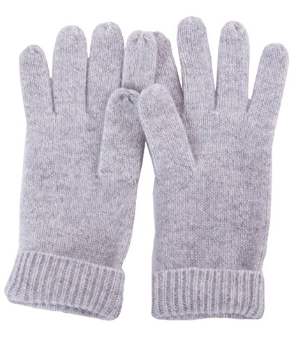 LEBAC Women's 100% Cashmere Mitten Gloves with Ribbed cuffs