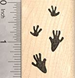 Rat Paw Prints Rubber Stamp, Mouse Tracks