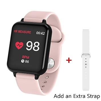 PMFS Mujeres Hombres Inteligente Reloj Reloj Deportivo Resistente al Agua para iPhone Monitor de Ritmo cardíaco Xiaomi Smartwatch de presoón Arterial ...