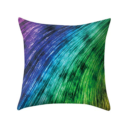 - Throw Pillow Covers, Jessie storee Colorful Rainbow Painted Cushion Cover Polyester Pillow Imitation Hemp Pillowcase Car Sofa Pillow by Bed Backrest Pillow 18x18 Inch 45x45 cm, C