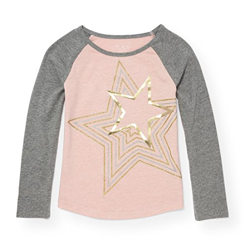 Dust Tee (The Children's Place Little Girls' T-Shirt, Rose Dust 13 88025, S (5/6))