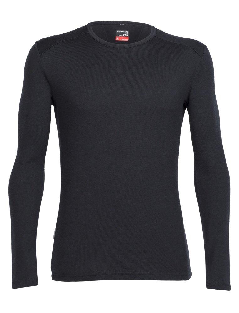 Icebreaker Merino Tech Heavyweight Base Layer Long Sleeve Crew Neck Shirt New Zealand Merino Wool