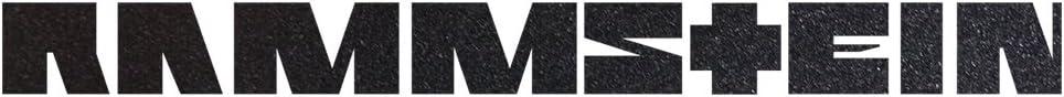 Rammstein Auto Aufkleber Sticker Anthrazit Metallic Aussenklebend 99cm Offizielles Band Merchandise Heckscheibe Auto
