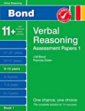New Bond Assessment Papers Verbal Reasoning 9-10 Years Book 1