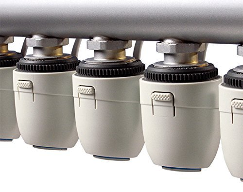 230 V actuador para suelo radiante, M30 X 1,5 NC (conectado sin corriente) VA80) apto para casi cualquier Calefacción circular distribuidor Buderus, ...