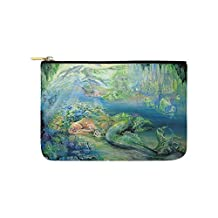 Custom ADEDIY Pouch Beautiful Underwater World Mermaid Carry-All Pouch 9.5x6 IN Toiletry Makeup Bag