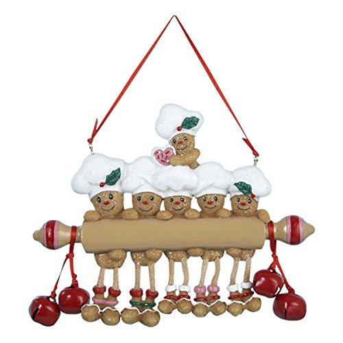 Kurt Adler Resin Gingerbread Family of Six ()