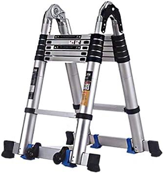 Escalera multiusos, ático Aluminio Ligero Ajustable Extensible Marco A Pasos Escaleras Hogar al aire libre interior (Size : 3.4m): Amazon.es: Bricolaje y herramientas