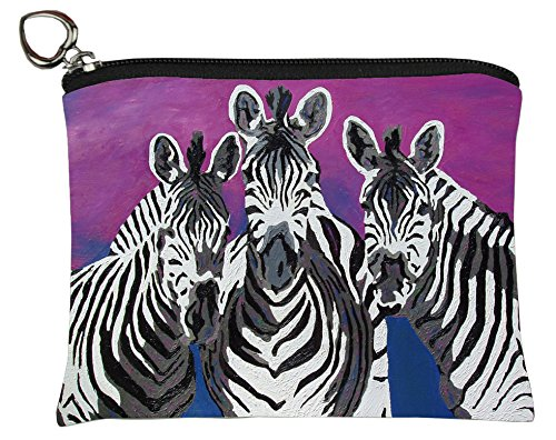 - Salvador Kitti Vegan Change Purse, Coin Purse - Animals - from My Original Paintings - Support Wildlife Conservation, Read How (Zebras - Family)