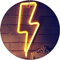 QiaoFei Neon bliksem tekenen, LED bliksem licht - muur Decor voor bruiloft partij Kids kamer woonkamer huis bar pub…