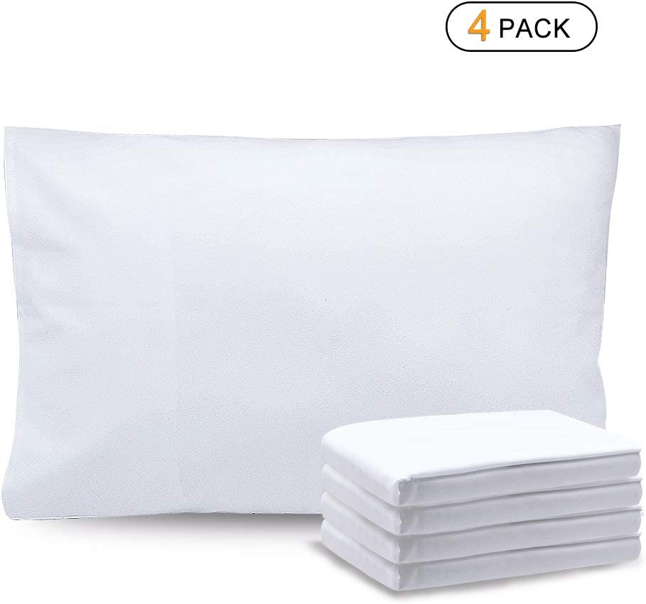 Standard//Queen Size 20x30 Soft Brushed Microfiber Pillowcase with Envelope Closure Set of 4 Breathable and Comfortable Pillow Covers Pink