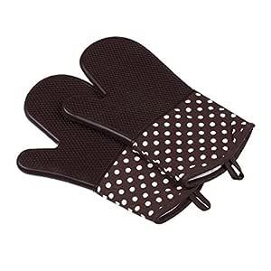 BIN-gloves Guantes Manoplas de Horno de Silicona Resistentes al ...