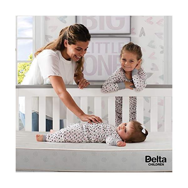 Delta Children Twinkle Stars Fiber Core Crib and Toddler Mattress | Waterproof | Lightweight | GREENGUARD Gold Certified (Natural/Non-Toxic) 4