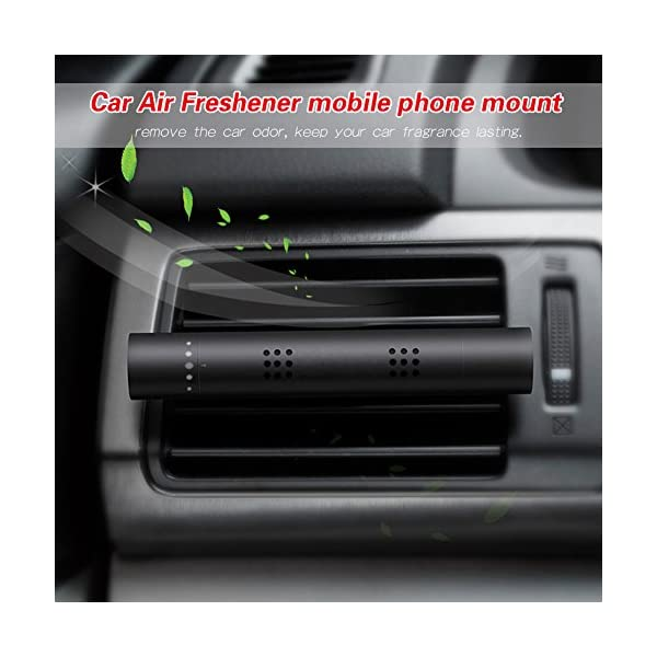 Car Air Freshener FLYMEI Vehicle Air Purifier Aromatherapy Essential Oil Diffuser Car Fragrance Diffuser Vent Clip With 3 Aroma Sticks For Vehicle Bedroom Office Travel Black