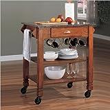 Coaster-Home-Furnishings-910009-Casual-Kitchen-Cart-Oak