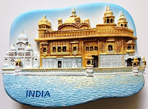 The Golden Temple (Harmandir Sahib) Amritsar INDIA Resin 3D fridge Refrigerator Thai Magnet Hand Made Craft. by Thai MCnets by Thai MCnets